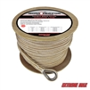"Extreme Max 3006.2285 BoatTector 3/4"" x 300' Premium Double Braid Nylon Anchor Line with Thimble - White & Gold"