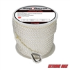 "Extreme Max 3006.2306 BoatTector 1/2"" x 200' Premium Twisted Nylon Anchor Line with Thimble - White"