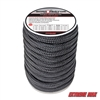 "Extreme Max 3006.2312 BoatTector 3/4"" x 40' Double Braid Nylon Dock Line - Black"