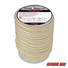 "Extreme Max 3006.2324 BoatTector 3/4"" x 40' Double Braid Nylon Dock Line - White & Gold"