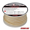 "Extreme Max 3006.2327 BoatTector 3/4"" x 50' Double Braid Nylon Dock Line - White & Gold"