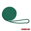 "Extreme Max 3006.2332 BoatTector 3/8"" x 15' Solid Braid MFP Dock Line - Forest Green"