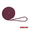 "Extreme Max 3006.2335 BoatTector 3/8"" x 15' Solid Braid MFP Dock Line - Burgundy"