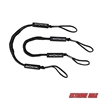 Extreme Max 3006.2352 BoatTector Bungee Dock Line - 4', Black (Value 2-Pack)