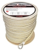 "Extreme Max 3006.2376 BoatTector 1/2"" x 800' Premium Double Braid Nylon Anchor Line with Thimble - White & Gold"