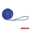 "Extreme Max 3006.2466 BoatTector Double Braid Nylon Dock Line - 3/8"" x 15', Blue with Reflective Tracer"