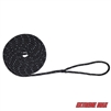 "Extreme Max 3006.2469 BoatTector Double Braid Nylon Dock Line - 3/8"" x 20', Black w/ Reflective Tracer"