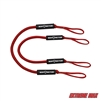 Extreme Max 3006.2571 BoatTector Bungee Dock Line - 4', Red (Value 2-Pack)