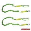 Extreme Max 3006.2577 BoatTector PWC Bungee Dock Line Value 2-Pack - 6', Green/Yellow