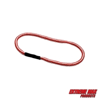 Extreme Max 3006.3172 BoatTector Bungee Dock Line Extension Loop - 1', Red/White (Value 4-Pack)