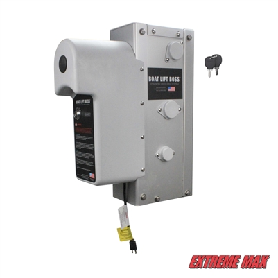 Extreme Max 3006.4571 Key Turn Boat Lift Boss Integrated Winch - 120V, 5000 lbs.