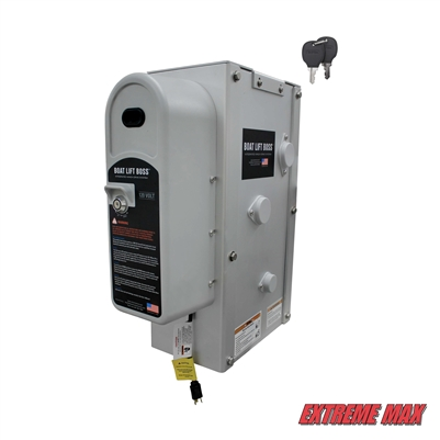 Extreme Max 3006.4647 Key Turn Boat Lift Boss Integrated Winch - 120V, 7500 lbs.