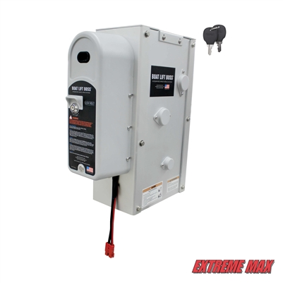 Extreme Max 3006.4656 Key Turn Boat Lift Boss Integrated Winch - 12/24V, 7500 lbs.