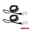 Extreme Max 3006.6634 PWC 7' Dock Line with Zinc-Plated Snap Hook - Value 2-Pack