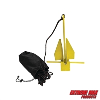 Extreme Max 3006.6716 BoatTector Complete PWC Fluke Anchor Kit with Rope and Marker Buoy - 4.5 lbs.