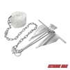 Extreme Max 3006.6717 Complete Slip Ring Anchor Kit with Rope / Anchor Chain / Shackle - #7 / 4.5 lb.