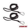 Extreme Max 3006.6779 PWC 7' Dock Line with Stainless Steel Snap Hook - Value 2-Pack