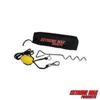 Extreme Max 3006.6826 BoatTector Complete PWC Screw Anchor Kit with Rope, Marker Buoy, and Storage Bag