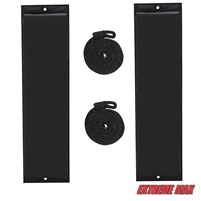 "Extreme Max 3006.7246 BoatTector 26"" Flat Fender Value Pack - Black"