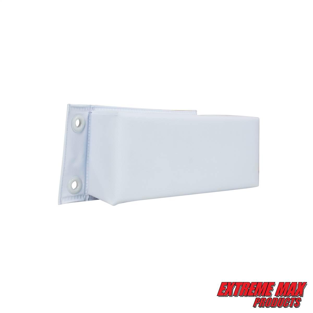 "Extreme Max 3006.7255 BoatTector Dock Bumper//Corner WHITE 10/"" X 10/"" X 4/"" X 2.5/"""