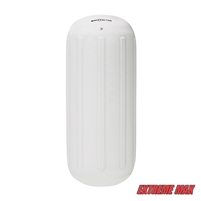 "Extreme Max 3006.7297 BoatTector Hole Through the Middle Inflatable Fender, 6.5"" x 15"" - White"