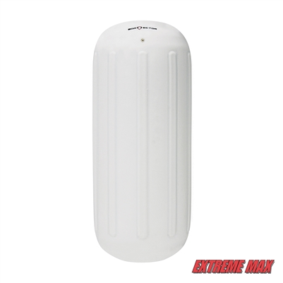 "Extreme Max 3006.7303 BoatTector Hole Through the Middle Inflatable Fender, 8.5"" x 20"" - White"