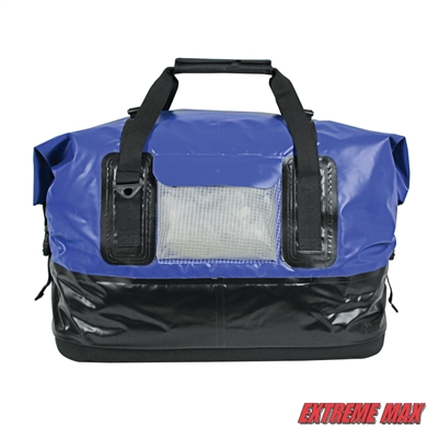 Extreme Max 3006.7342 Dry Tech Water-Resistant Roll-Top Duffel Bag - 70 Liter, Blue