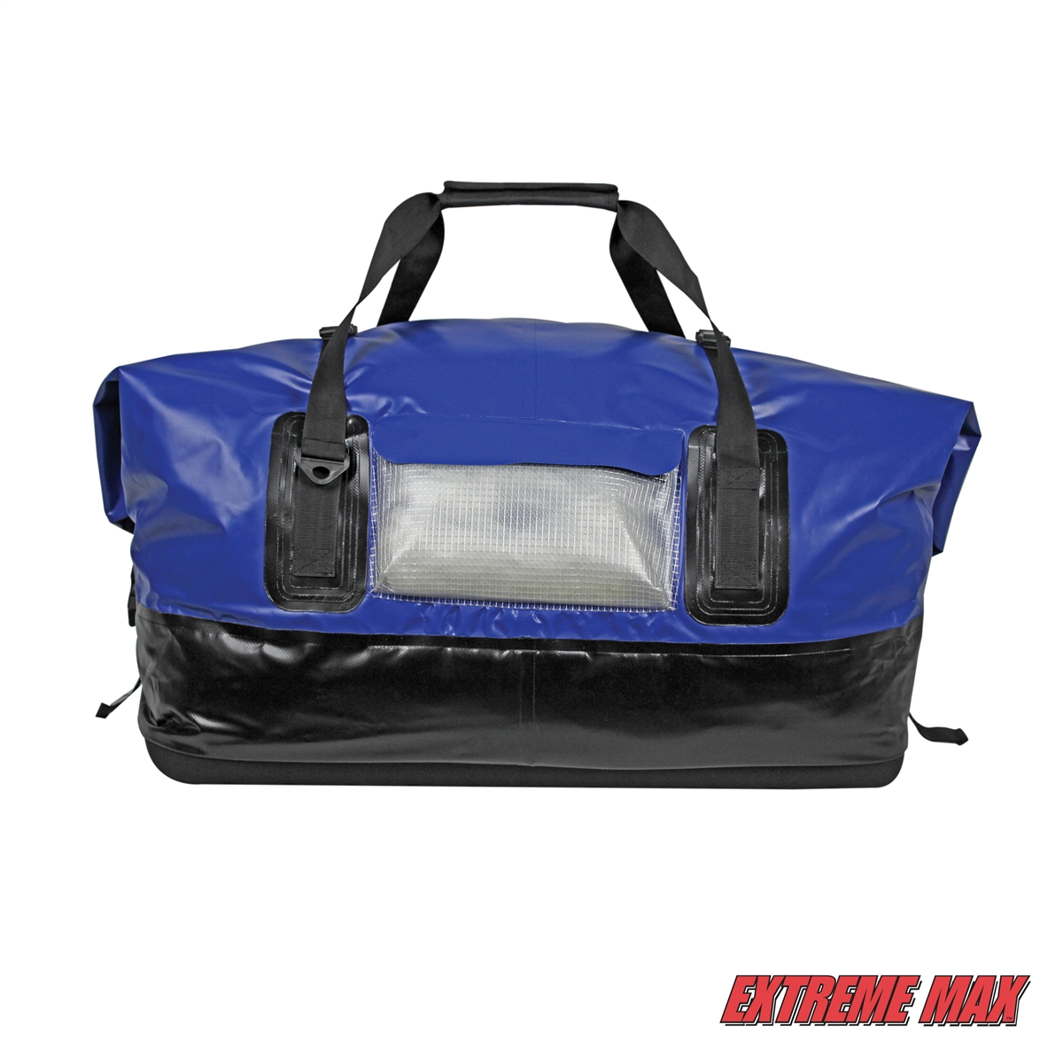 Extreme Max 3006 7345 Dry Tech Waterproof Roll Top Duffel Bag Extra Large 110 Liter Blue