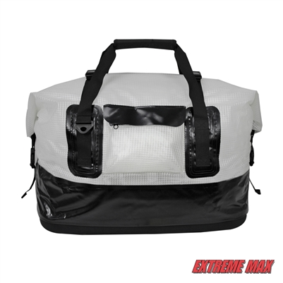 Extreme Max 3006.7348 Dry Tech Water-Resistant Roll-Top Duffel Bag - 70 Liter, Clear