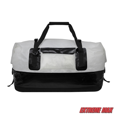 Extreme Max 3006.7351 Dry Tech Water-Resistant Roll-Top Duffel Bag - 110 Liter, Clear