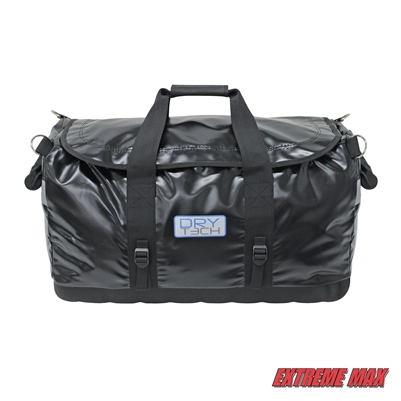 Extreme Max 3006.7363 Dry Tech Water-Repellent Zippered Duffel Bag, Small 26.5 Liter - Black