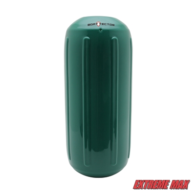 "Extreme Max 3006.7471 BoatTector Hole Through the Middle Inflatable Fender, 6.5"" x 15"" - Forest Green"