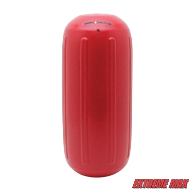"Extreme Max 3006.7477 BoatTector Hole Through the Middle Inflatable Fender, 8.5"" x 20"" - Bright Red"