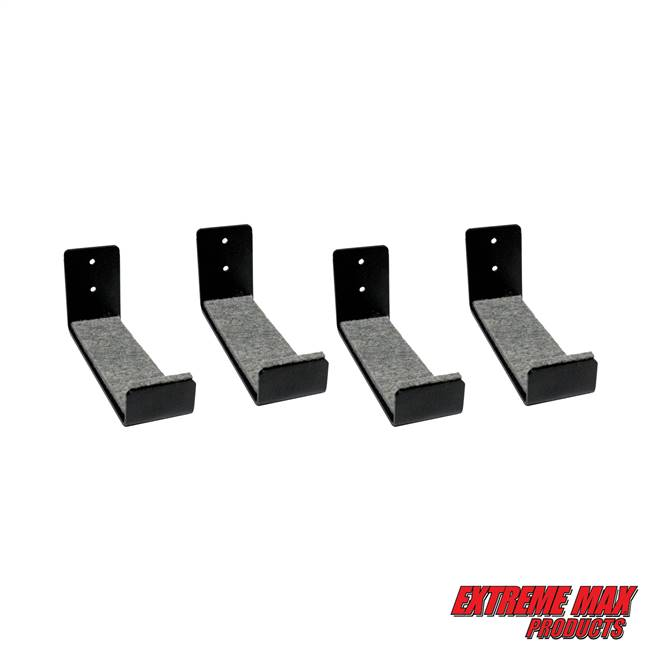 Extreme Max 3006.8438.2 Minimalist Wall-Mount Naked Surfboard Rack / Display Mount - Value 2-Pack