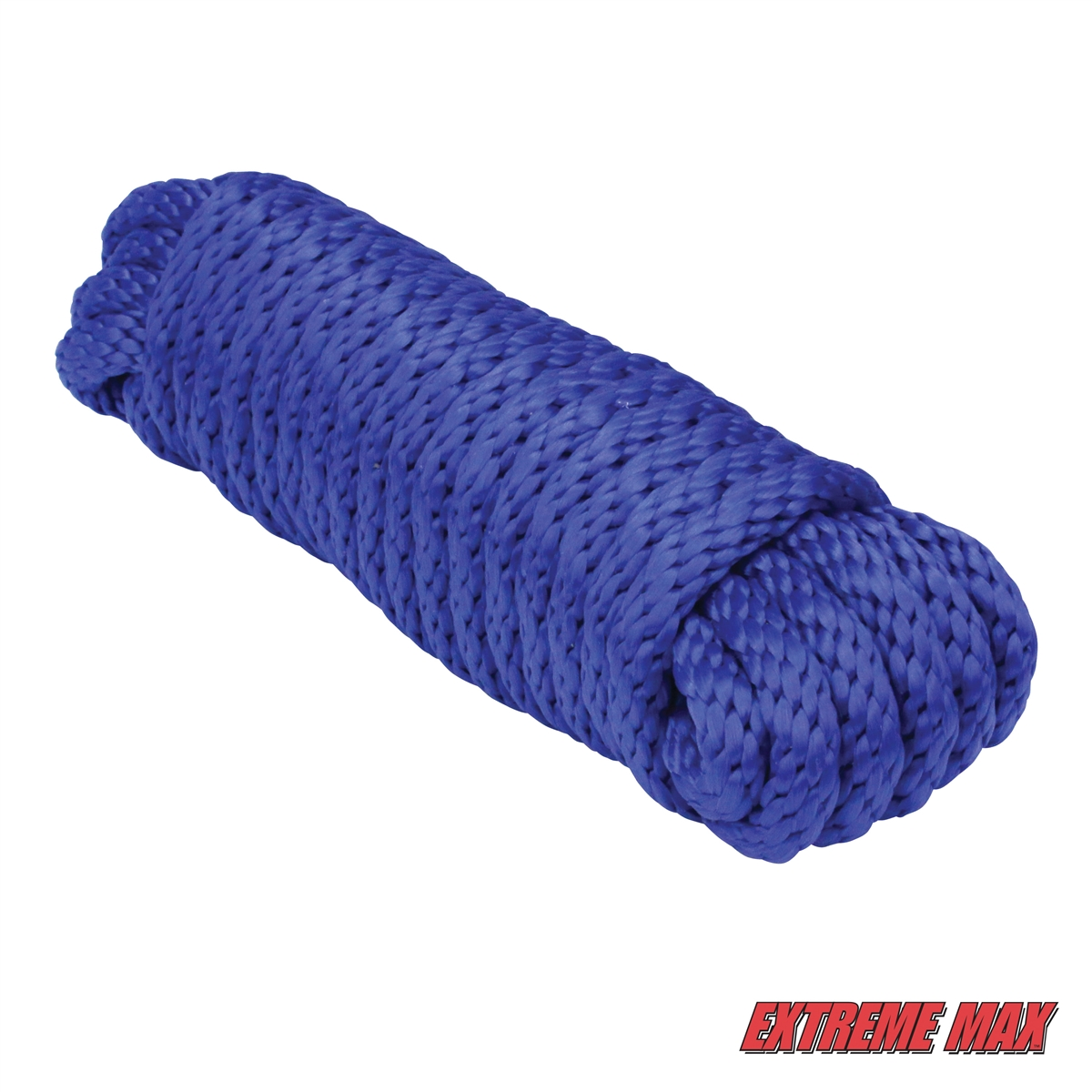 Extreme Max 3008.0069 Blue 3//8 x 100 Solid Braid MFP Utility Rope