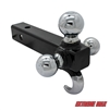 Extreme Max 5001.1367 Tri-Ball Trailer Hitch with Tow Hook