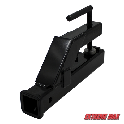 Extreme Max 5001.1369 Clamp-On Tractor Bucket Hitch Receiver Adapter - 2""