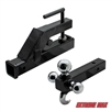 Extreme Max 5001.1376 Clamp-On Tractor Bucket Receiver Adapter and Tri-Ball Hitch with Tow Hook