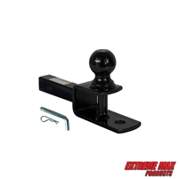 "Extreme Max 5001.1379 3-in-1 ATV Ball Mount with 2"" Ball - 1-1/4"" Solid Shank"