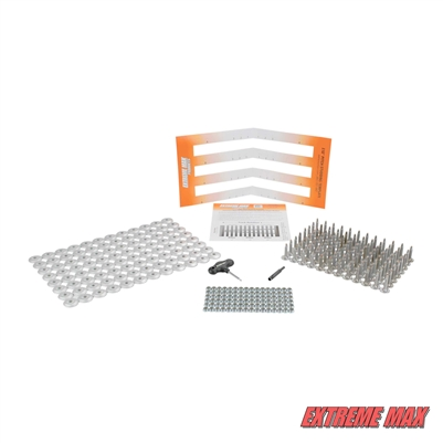 "Extreme Max 5001.5460 96-Stud Track Pack with Round Backers -  0.875"" Stud Length"