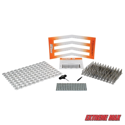 "Extreme Max 5001.5484 108-Stud Track Pack with Round Backers -  1.25"" Stud Length"