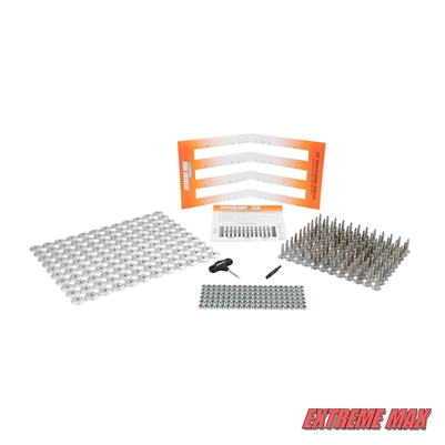 "Extreme Max 5001.5499 120-Stud Track Pack with Round Backers -  1.25"" Stud Length"
