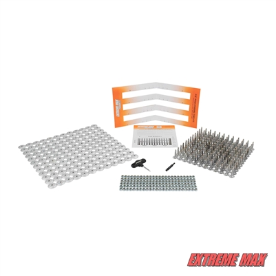 "Extreme Max 5001.5511 144-Stud Track Pack with Round Backers -  0.875"" Stud Length"