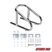 "Extreme Max 5001.5763 Deluxe Chrome Motorcycle Wheel Chock - 5.5"" Wide"