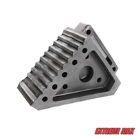 Extreme Max 5001.5772 Heavy-Duty Solid Rubber Wheel Chock with Handle