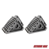 Extreme Max 5001.5772.2 Heavy-Duty Solid Rubber Wheel Chock with Handle - Value 2-Pack