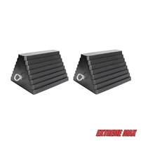 Extreme Max 5001.5775.2 Heavy-Duty Rubber Wheel Chock with Eyebolt - Value 2-Pack
