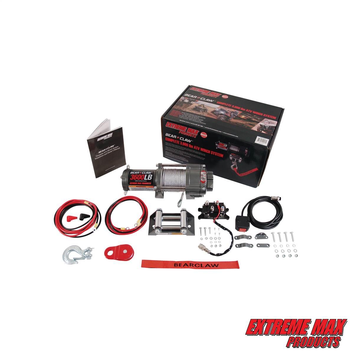 Extreme Max 5600 3075 Bear Claw ATV Winch - 3600 lb