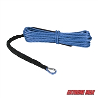 "Extreme Max 5600.3078 ""The Devil's Hair"" Synthetic ATV / UTV Winch Rope -  Blue"