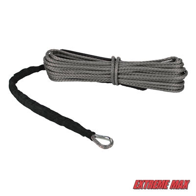 "Extreme Max 5600.3081 ""The Devil's Hair"" Synthetic ATV / UTV Winch Rope -  Gray"